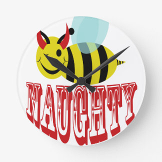 bee naughty round clock