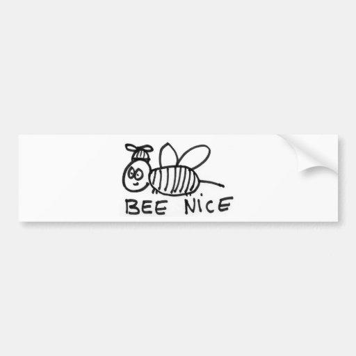 Bee Nice Bumper Stickers