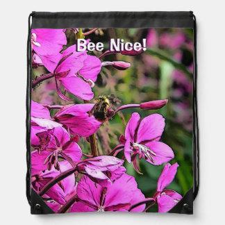 Bee Nice Drawstring Bag