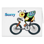 Bee on a Bike Sorry Cards