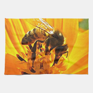 Bee on a Flower Hand Towel
