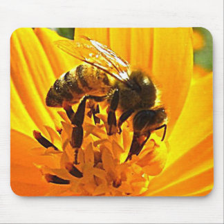 Bee on a Flower Mouse Pad