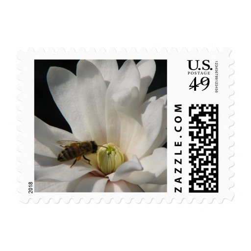 Bee on a Magnolia Centennial Postage Stamp