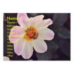 Bee on a purple flower business card