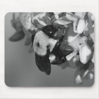 Bee on a Redbud Mouse Pad