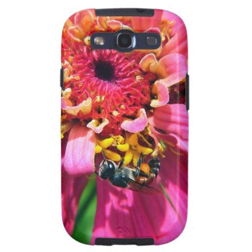 Bee on a Shocking Pink Flower Samsung Galaxy SIII Case