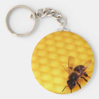 Bee on a wax keychain