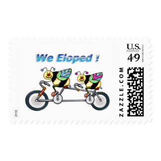 Bee on aTandem Bike Eloped Postage