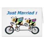 Bee on aTandem Bike Married Greeting Card