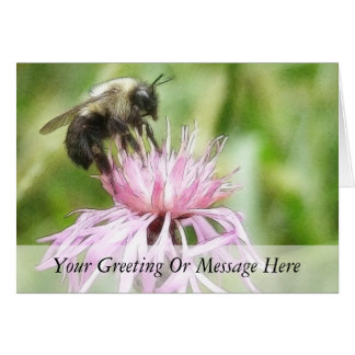 Bee On Bachelor Button Card