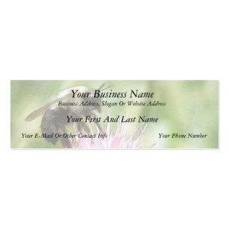 Bee On Bachelor Button Mini Business Card