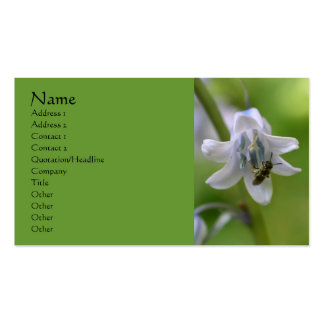 Bee On Bluebell Flower Business Card