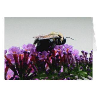 Bee on Butterfly Bush Card