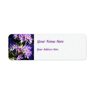 Bee on Butterfly Bush - Lavender Flowers Label