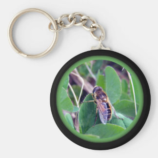 Bee On Clover Key Chain