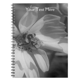 Bee On Cosmos Flower Notebook