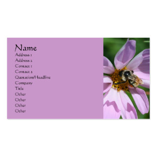 Bee On Cosmos Nature Photography Business Card