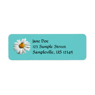 Bee on Daisy Customizable Color Label