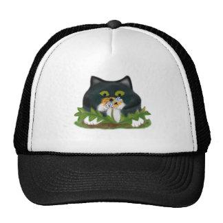 Bee on Dandelion Buzzes Kitten Trucker Hat