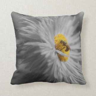 Bee On Flower 2 Nature American MoJo Pillow