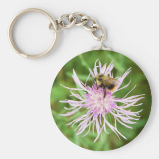 Bee on Flower Blossom Key Chain