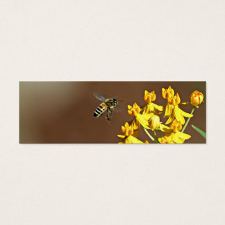 Bee On Flower Bookmark Mini Business Card