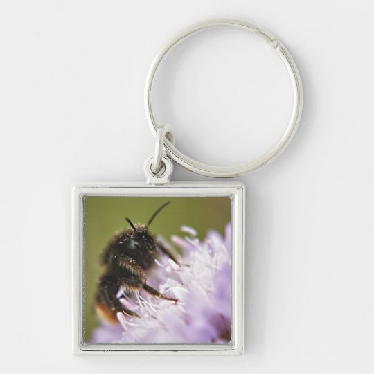 Bee on flower Keychain