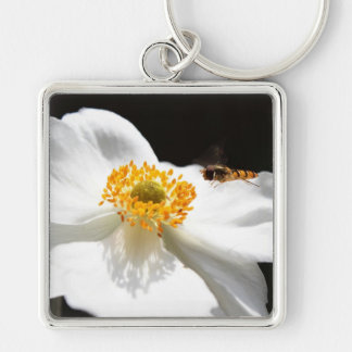 Bee on Flower Keychain