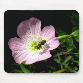 Bee On Flower Mouse Pad