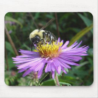 Bee on flower mousepad