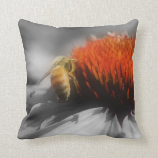 Bee On Flower Nature American MoJo Pillow