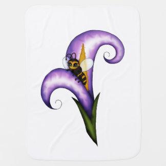 Bee on Flower Swaddle Blanket