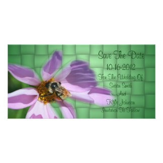 Bee On Flower Wedding Save The Date Card