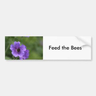 Bee on Geranium Bumper Sticker