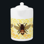 """Bee on Honeycomb Teapot<br><div class=""""desc"""">More great items in my store!</div>"""