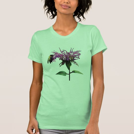 Bee on Lavender Bee Balm Ladies T-Shirt