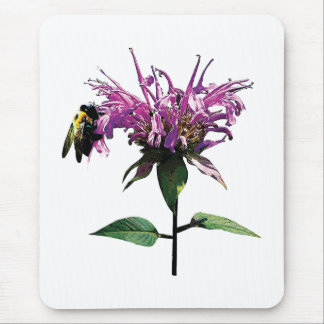 Bee on Lavender Bee Balm Mouse Pad