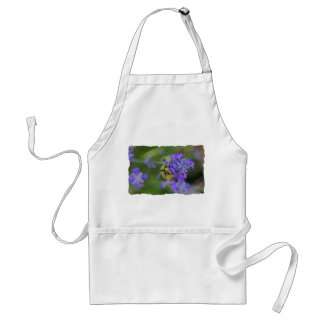 Bee on Lavender Photo Adult Apron