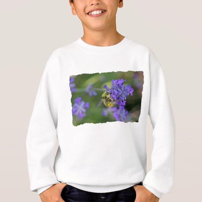 Bee on Lavender Photo Sweatshirt