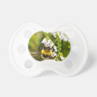 Bee on Lucky White Heather Pacifier