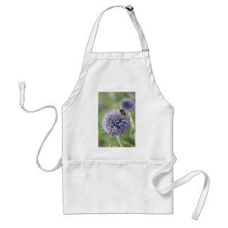 Bee on mauve flower adult apron