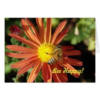 Bee on Mum, Bee Happy! card