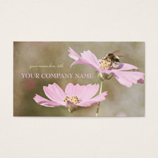 Bee on Pink Flower Business Card