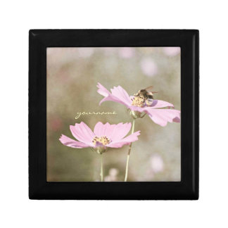 Bee on Pink Flower Gift Boxes