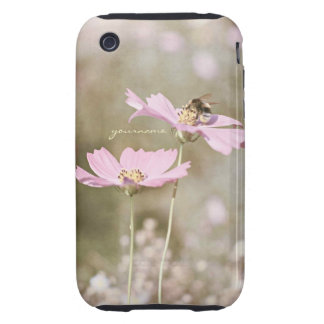 Bee on Pink Flower iPhone 3 Tough Cover
