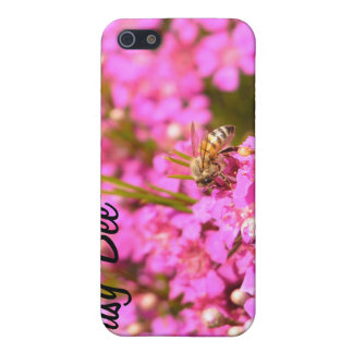 Bee on pink flowers case for iPhone SE/5/5s