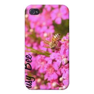 Bee on pink flowers iPhone 4/4S covers
