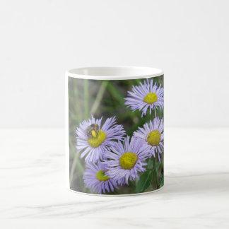 Bee on Purple Aster Coffee Mug