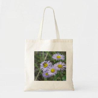 Bee on Purple Aster Tote Bag
