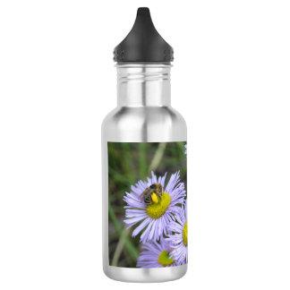 Bee on Purple Aster Water Bottle